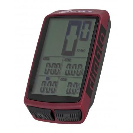 Kolesarski Števec F DIABLO 11f, Brezžični, bordo rdeča
