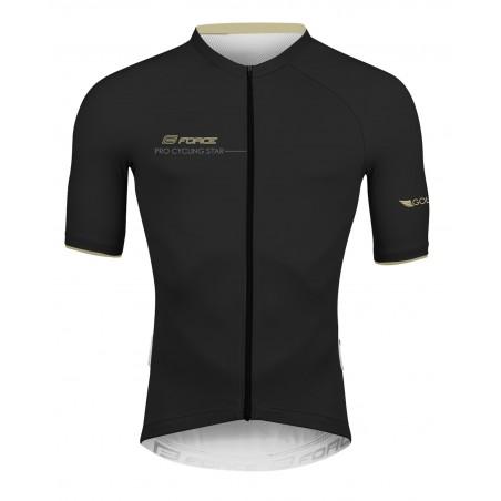 majica FORCE GOLD kratki rokav, črna-zlata
