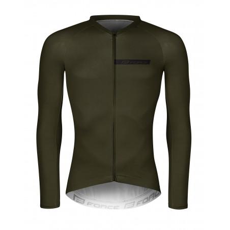 majica FORCE CHARM moška dolgi rokavi, vojaško zelena